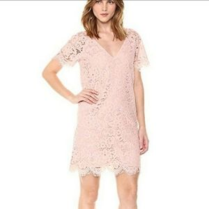 NEW BB DAKOTA PINK LEMONADE EYELASH LACE DRESS XS